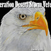 Desert Storm Eagle Art Print