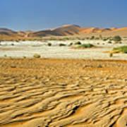 Desert Texture In Namib-naukluft Art Print