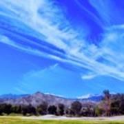 Desert Winter Sky Art Print