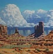 Rainstorm Over Monument Valley Art Print