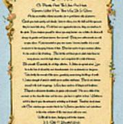 Desiderata Poem On Antique Paris Postcard Art Print
