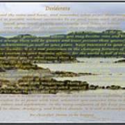 Desiderata Rugged Coastline Art Print