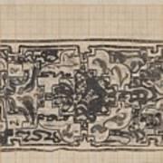 Design For A Binding For Charivaria, Carel Adolph Lion Cachet, 1874 - 1945 Art Print