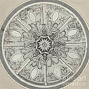 Design For An Inlaid Circular Table Top, With Alternatives Art Print
