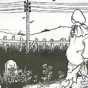 Design For End Paper Of Pierrot Art Print