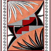 Southwest Collection - Design Three In Red Art Print