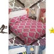 Designer Bed Sheet To Decor Home Art Print