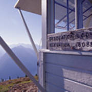 Desolation Peak Fire Lookout Cabin Sign Print by David Pluth