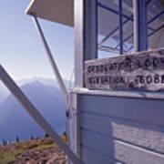 Desolation Peak Fire Lookout Cabin Sign Art Print