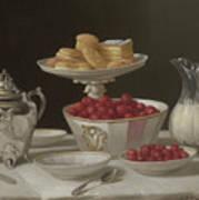 Dessert Still Life, 1855 Art Print