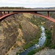 Desutches River Bridge Art Print