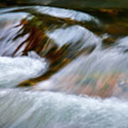 Detail Cascade Fall River Art Print