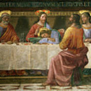 Detail From The Last Supper Art Print by Domenico Ghirlandaio