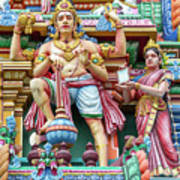 detail of Arulmigu Kapaleeswarar Temple, Chennai, Tamil Nadu Art Print