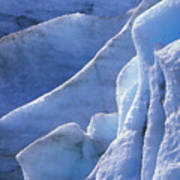 Detail Of Blue Ice On Exit Glaicer Art Print