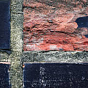 Detail Of Damaged Wall Tiles Art Print
