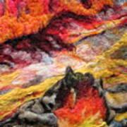 Detail Of Fire Art Print