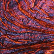 Detail Of Molten Lava Art Print