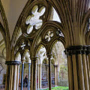 Detail Of Salisbury Cathedral Cloister  Art Print