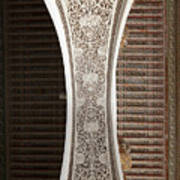 Detail Of The Decoration Of A Semi Arch In The Bahia Palace Art Print