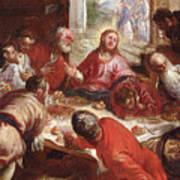 Detail Of The Last Supper Art Print