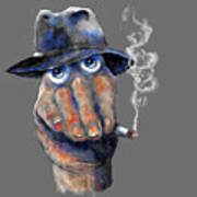 Detective Hand Art Print