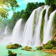 Detian Waterfall Art Print