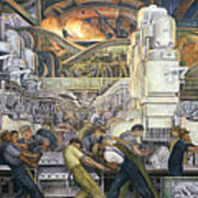 Detroit Industry   North Wall Art Print by Diego Rivera