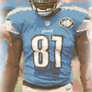 Detroit Lions Calvin Johnson 1 Art Print