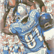 Detroit Lions Calvin Johnson 3 Art Print