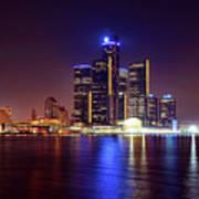 Detroit Skyline 4 Art Print
