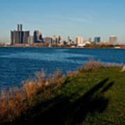 Detroit Skyline And Shadow Art Print