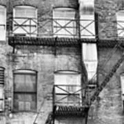 Detroit Thru Windows Art Print