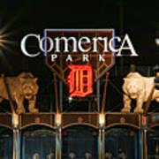Detroit Tigers - Comerica Park Art Print by Gordon Dean II