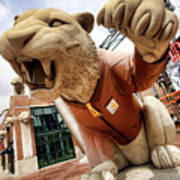 Detroit Tigers Tiger Statue Outside Of Comerica Park Detroit Michigan Art Print by Gordon Dean II