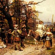 Detti Cesare Auguste A Halt Along The Way Art Print