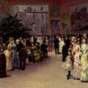 Detti Cesare Auguste Varnishing Day Art Print