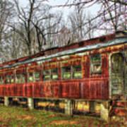 Devastation Railroad Passenger Train Car Fire Art Art Print