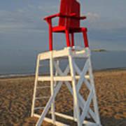 Devereux Beach Lifeguard Chair Marblehead Ma Art Print