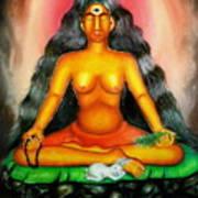 Devi Kali Goddess Print by Sri Mala