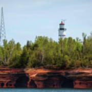 Devils Island Apostle Islands Lighthouse Art Print