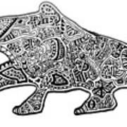 Freaky Frog Art Print