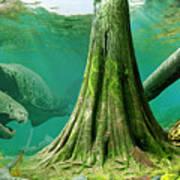 Devonian mural Art Print