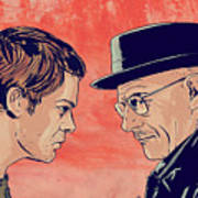 Dexter And Walter Art Print by Giuseppe Cristiano