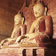 Dhammayangyi Temple Buddhas Art Print