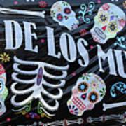 Dia De Los Muertos Banner  Art Print