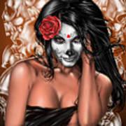 Dia De Los Muertos Remix Art Print