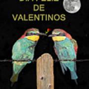 Dia Feliz De Valentinos Bee Eaters Art Print