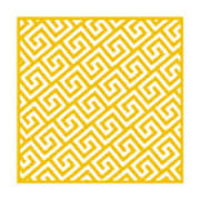 Diagonal Greek Key With Border In Mustard Art Print