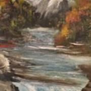 Diamond Falls Art Print